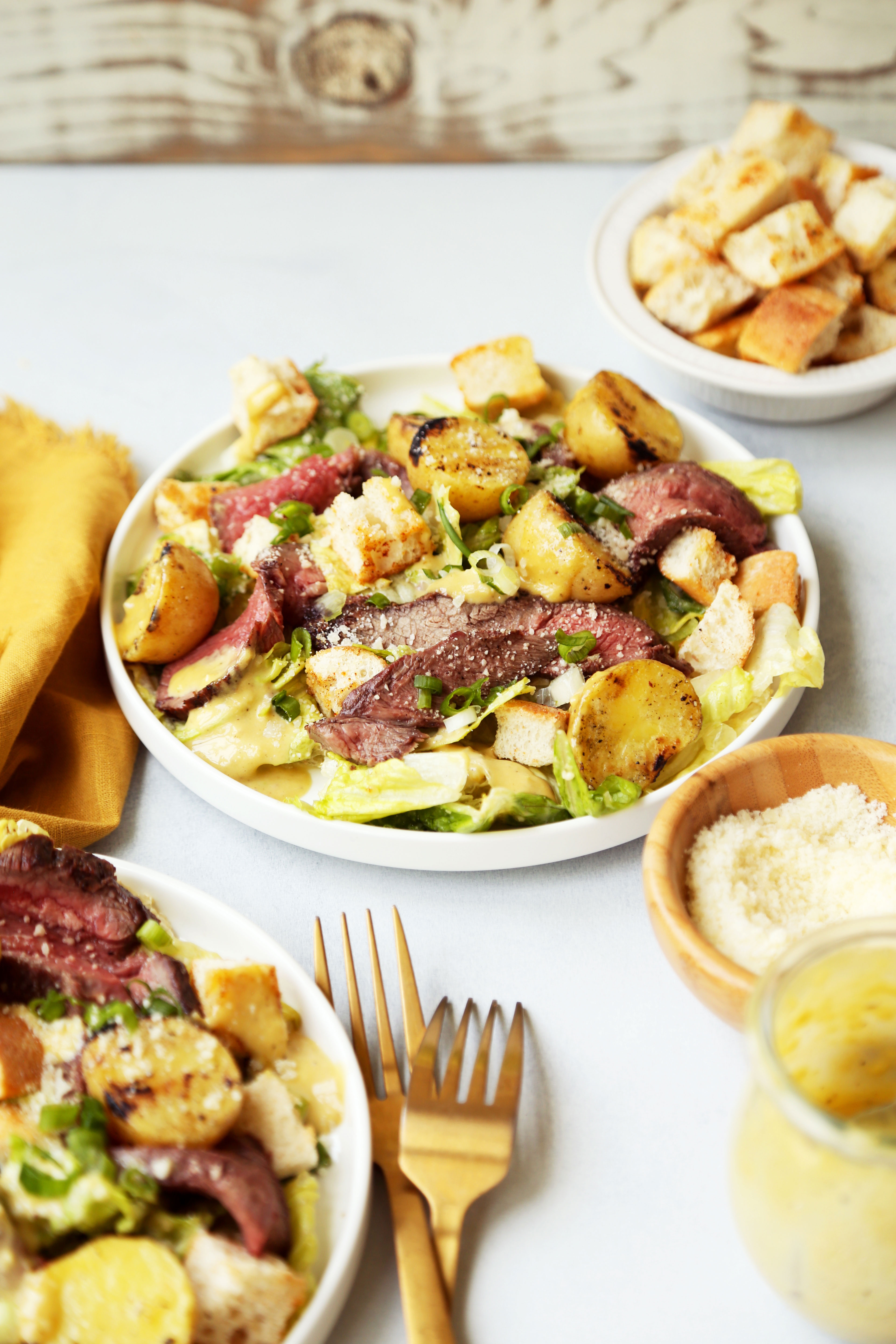 Steak and Potato Caesar Salad