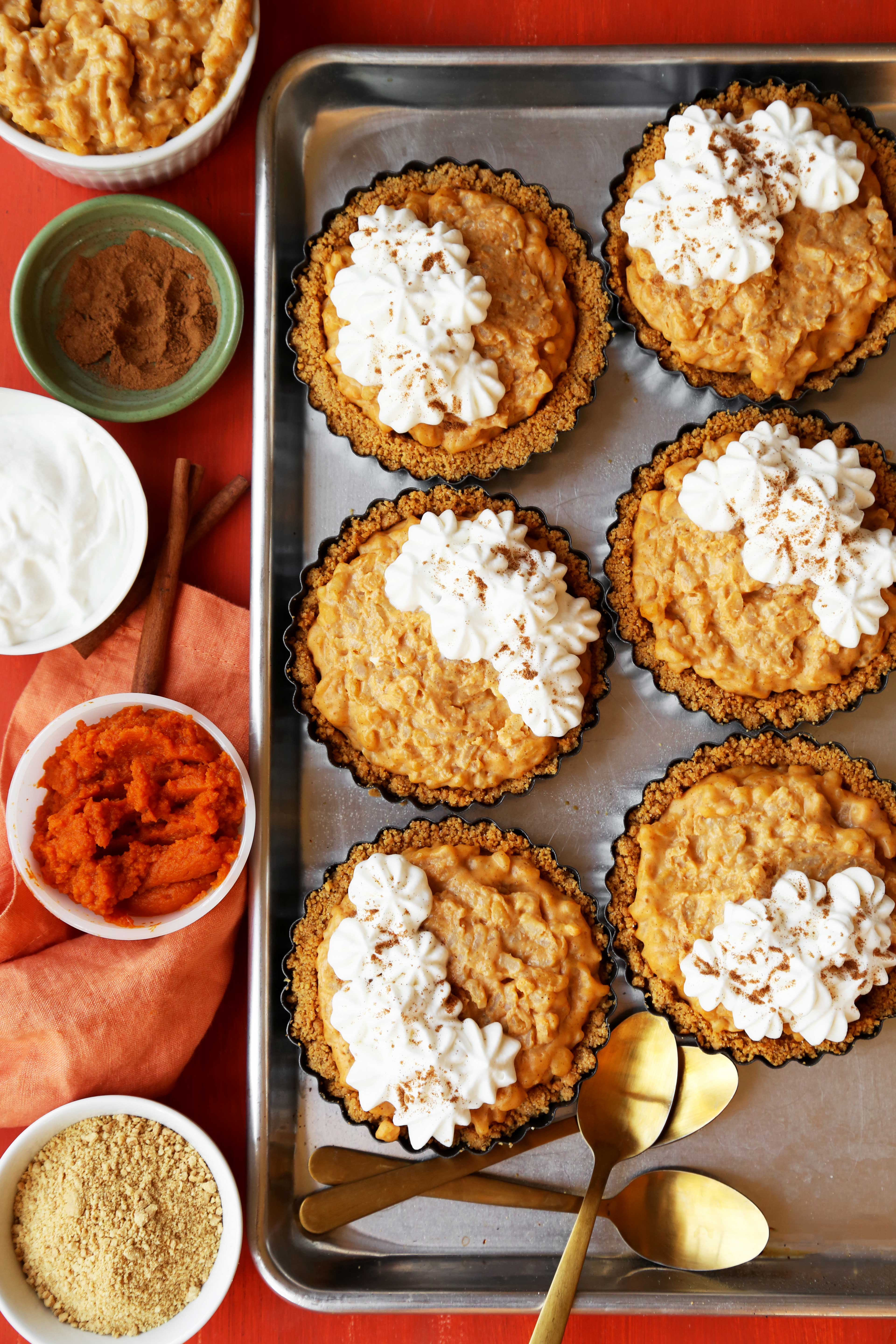 Mini Arroz Con Leche Pumpkin Pies