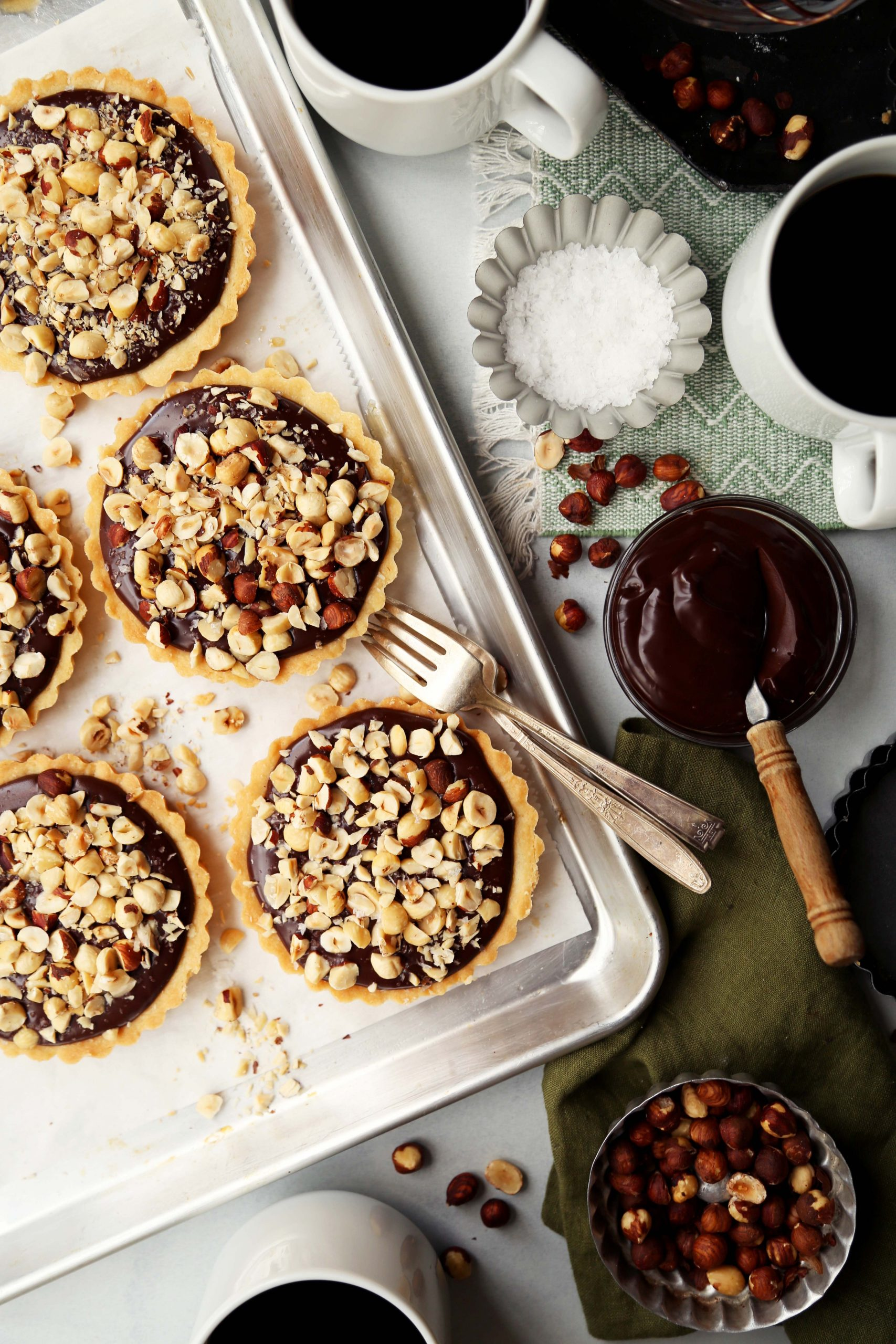 Chocolate Hazelnut Tarts