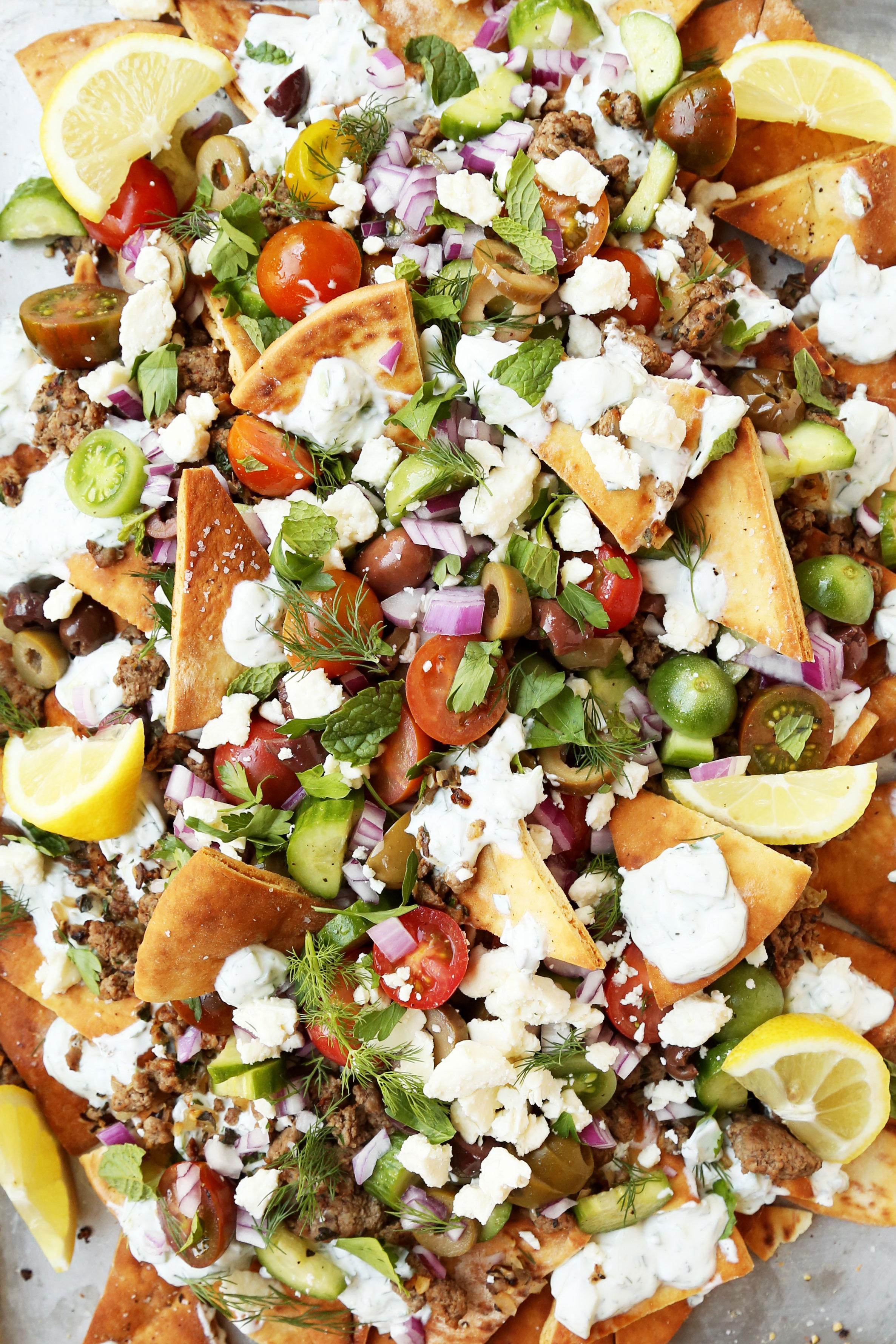 Greek Nachos - The Candid Appetite