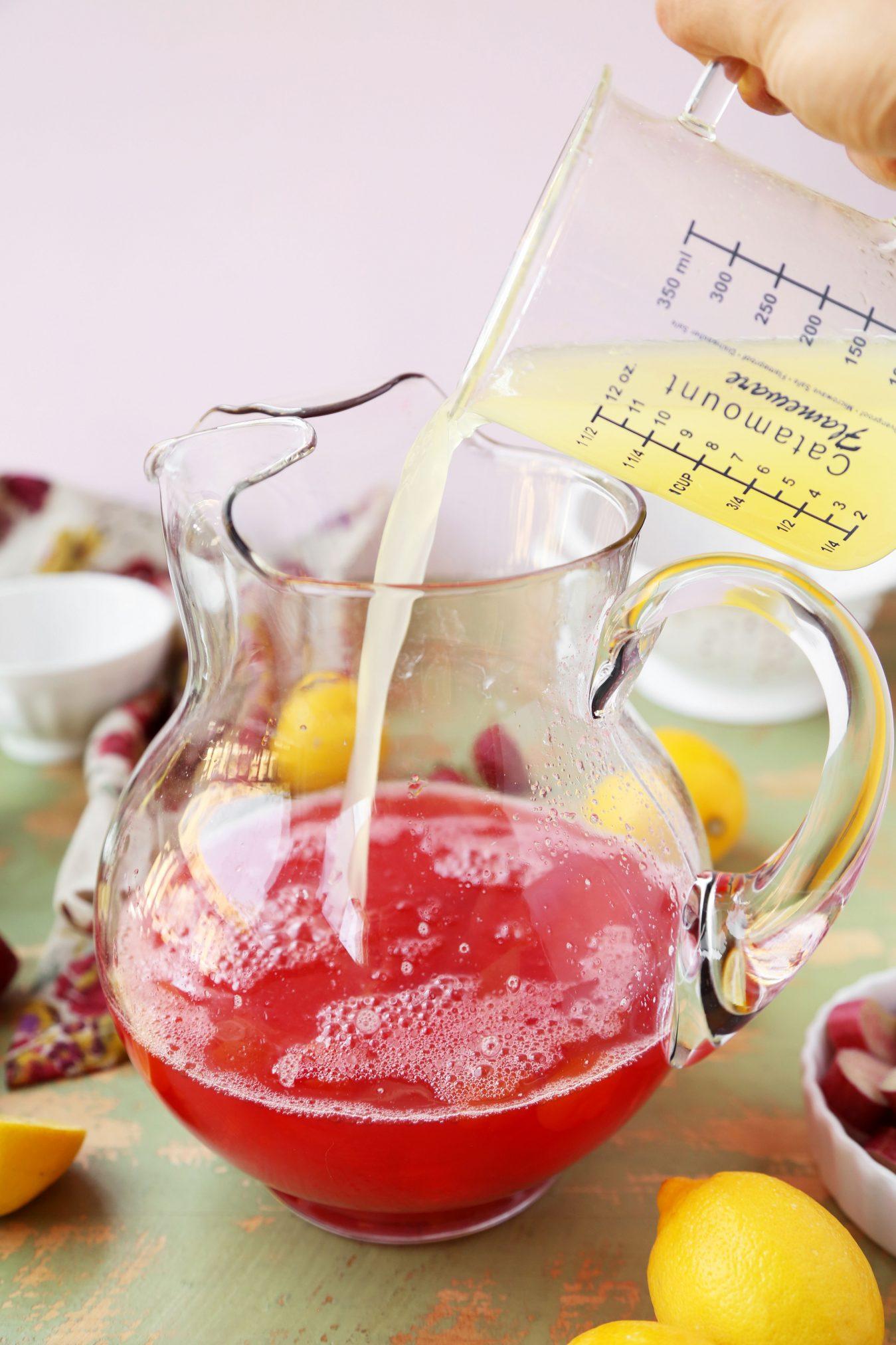 how to make strawberry rhubarb lemonade