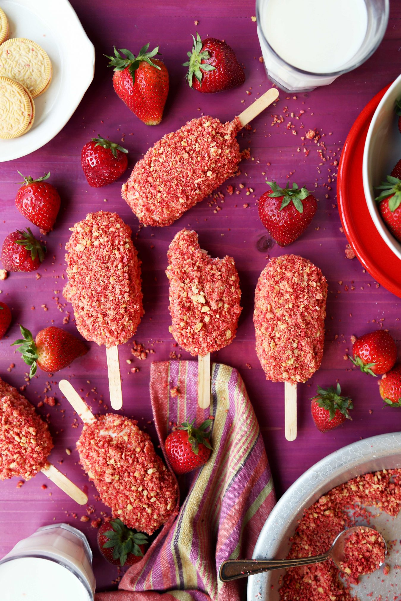 Strawberry Shortcake Ice Cream Bars The Candid Appetite