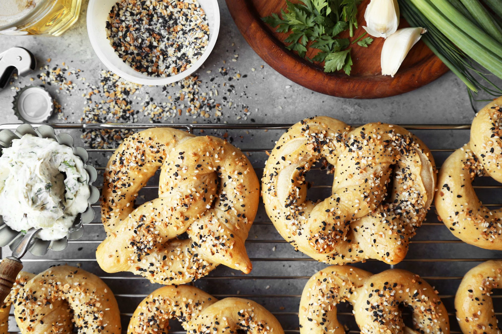 Everything Bagel Pretzels