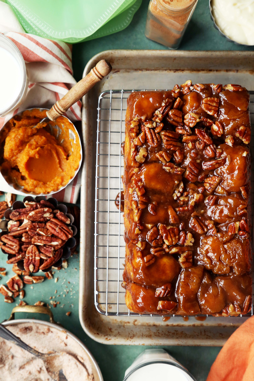 Pumpkin Sticky Bun Monkey Bread