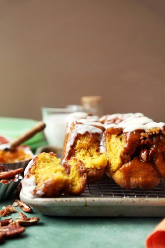 Pumpkin Sticky Bun Monkey Bread
