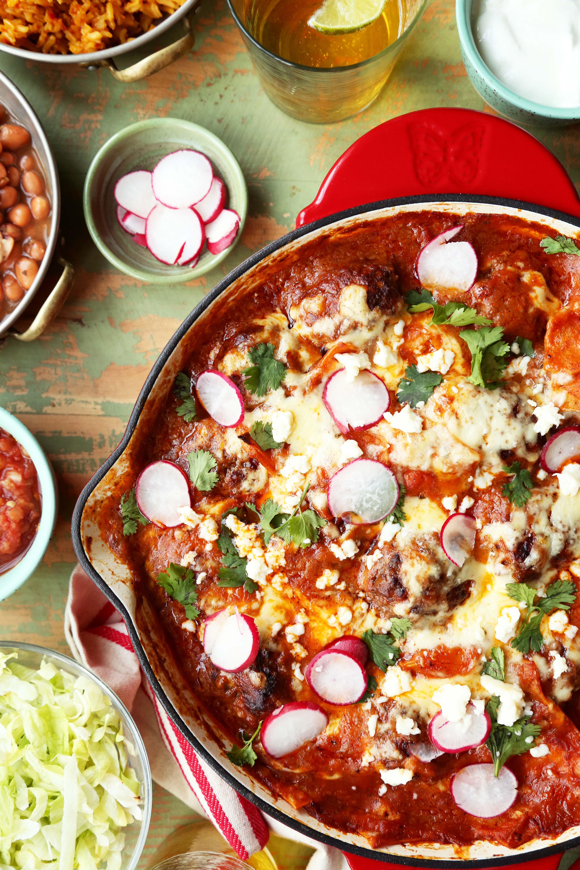Skillet Enchilada Meatballs