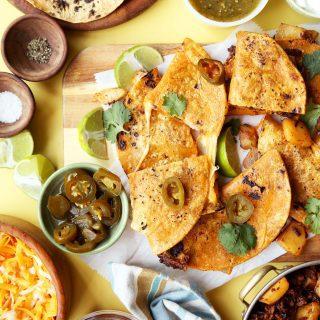 Potato and Chorizo Quesadillas