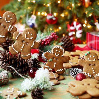Edible Gingerbread Men Garland