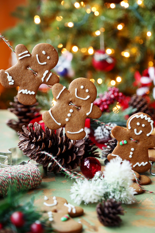 Gingerbread Men Personalised Christmas Decoration Bunting Banner Garland