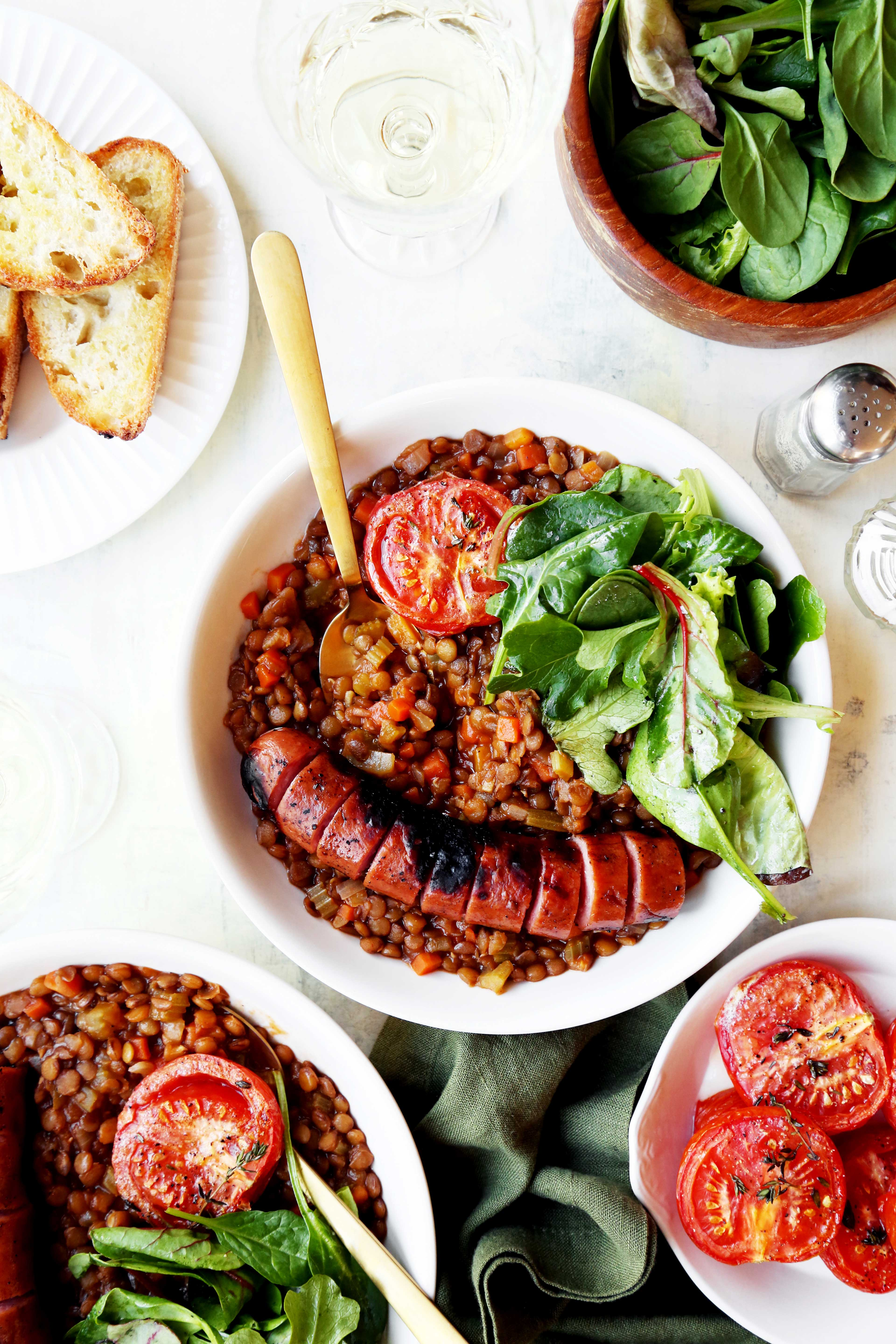 French Lentil Stew with Sausage