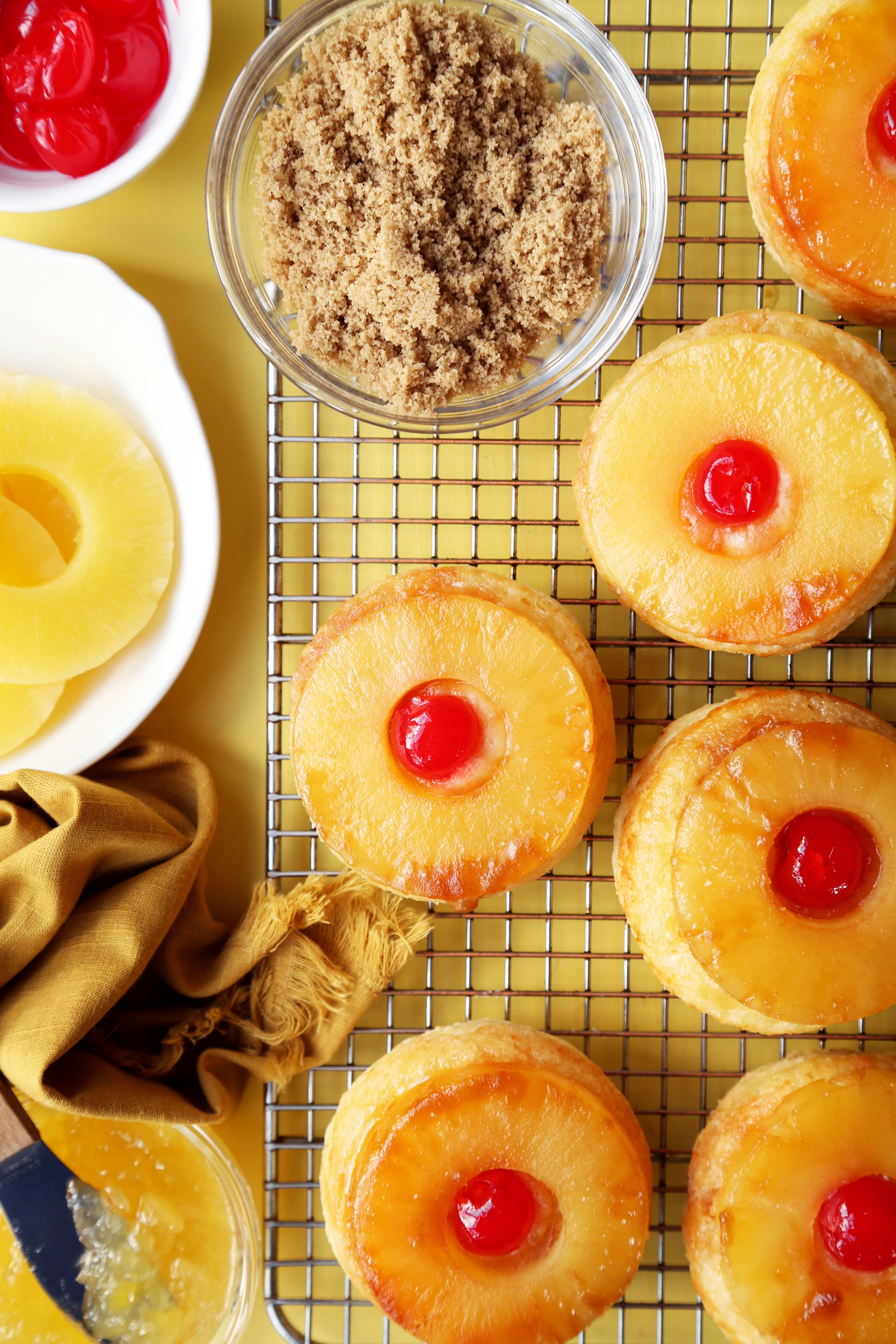 Pineapple Upside-Down Scones