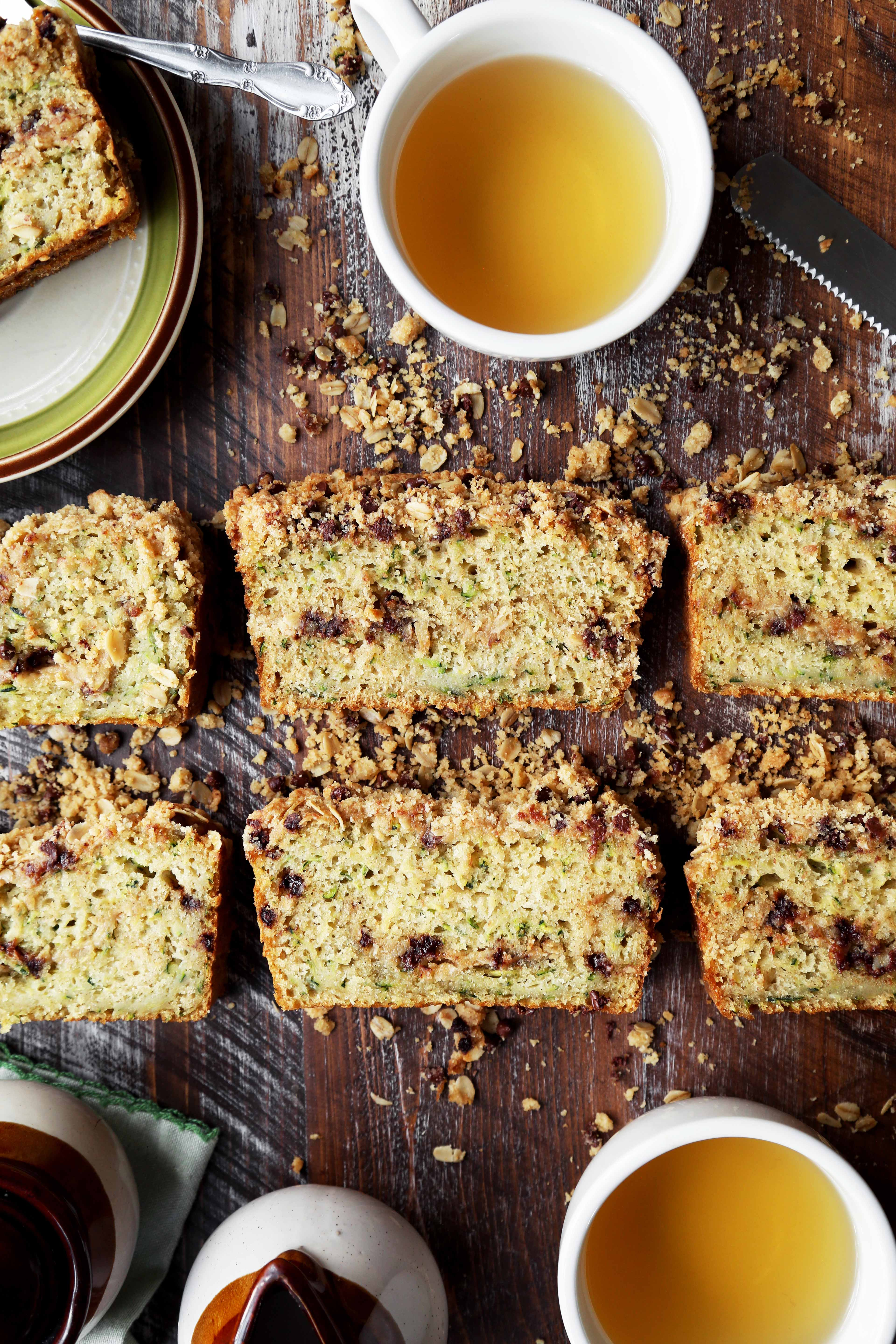 Zucchini Chocolate Chip Streusel Loaf