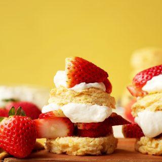 Sweet Corn Strawberry Shortcakes