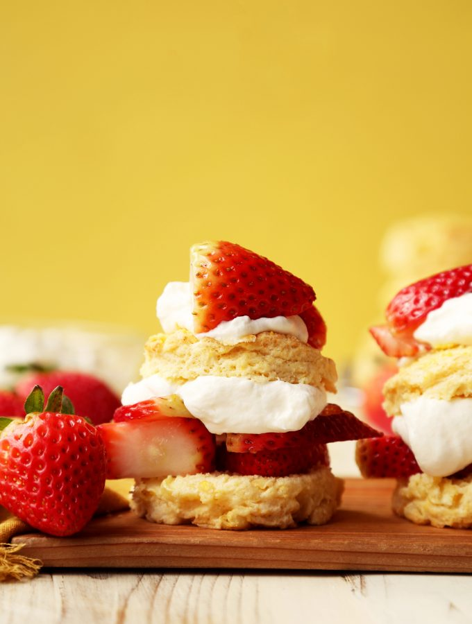 Sweet Corn Strawberry Shortcakes