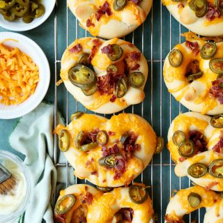 Quick Bacon Cheddar Jalapeño Soft Pretzels