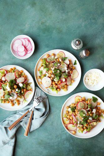 Crispy Chickpea and Radish Salad