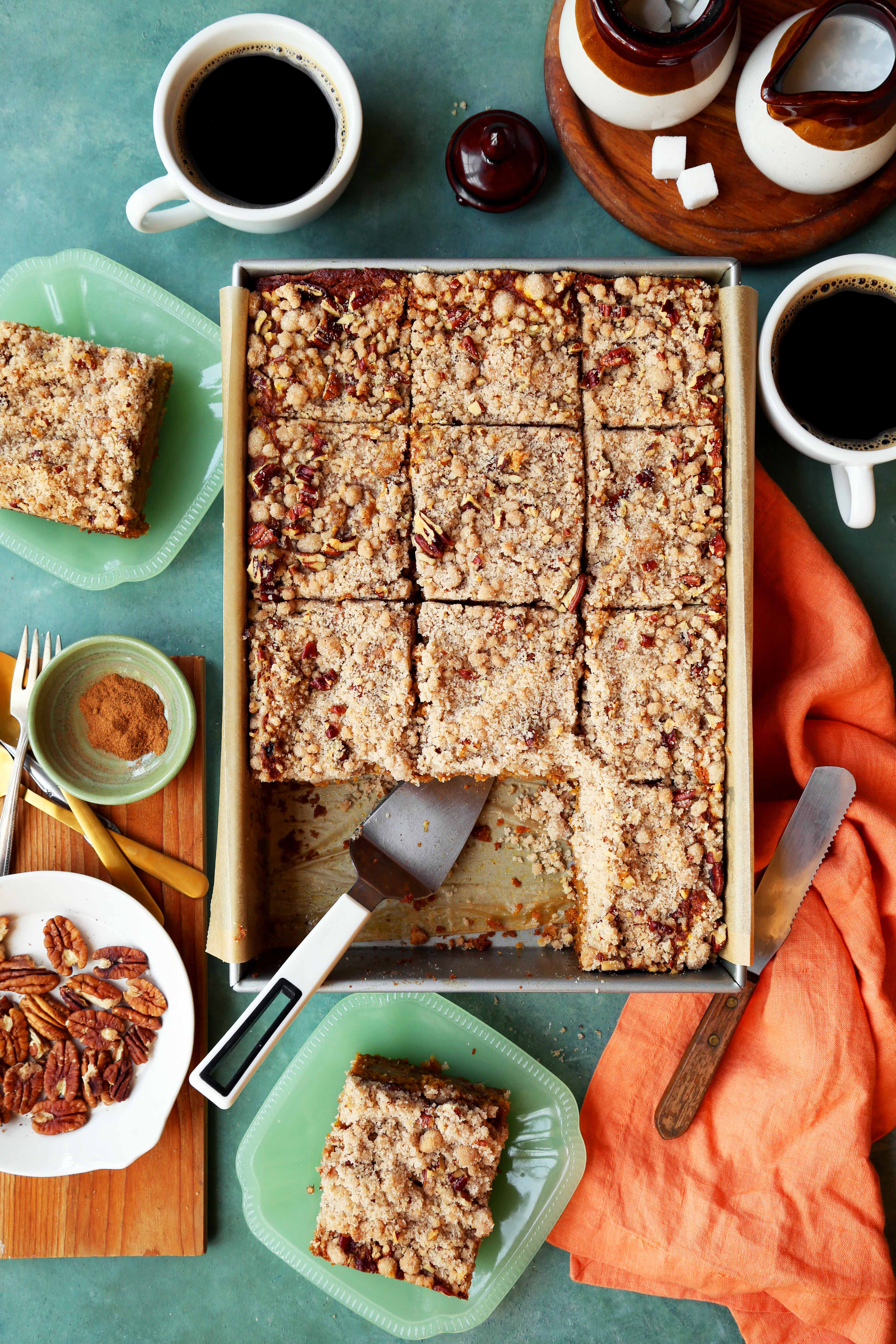 Pumpkin Apple Coffee Cake