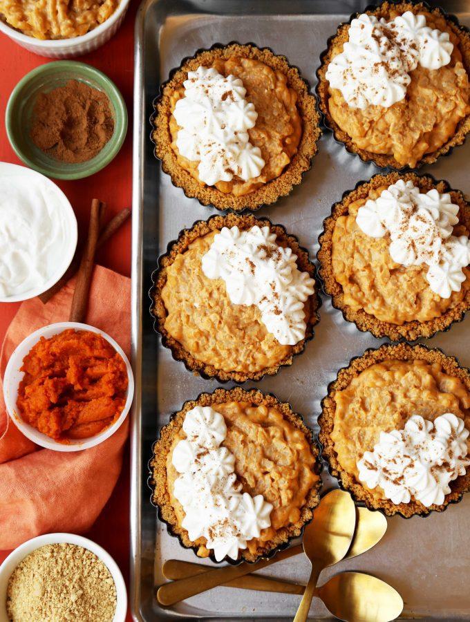 Mini Arroz Con Leche Pumpkin Pies