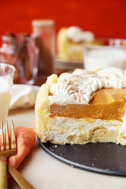 No-Bake Pumpkin Pie Charlotte