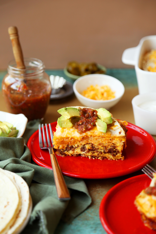 Chorizo Breakfast Burrito Casserole