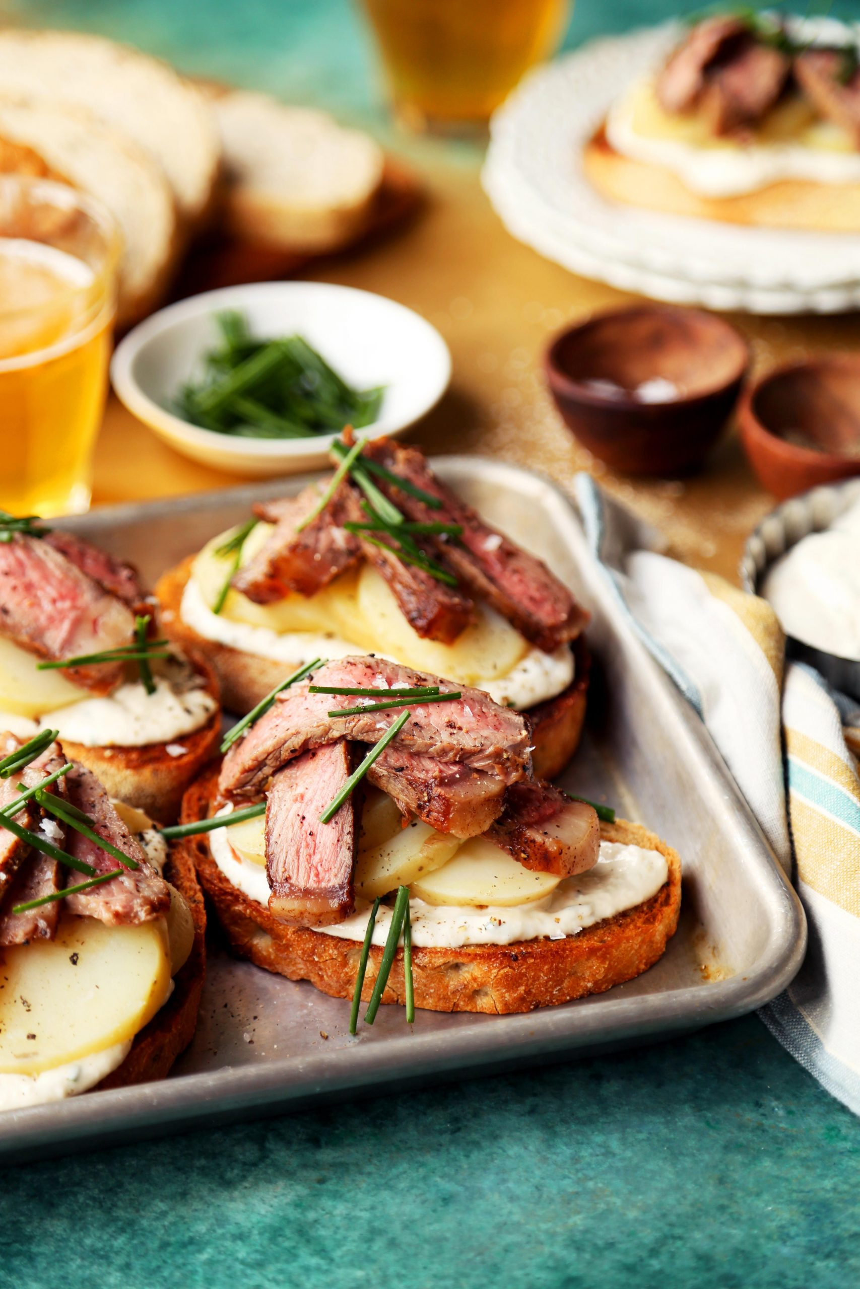 Steak and Potato Toasts