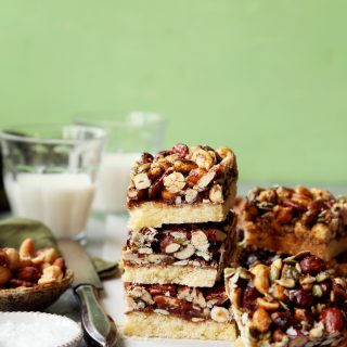 Nutty Shortbread Bars