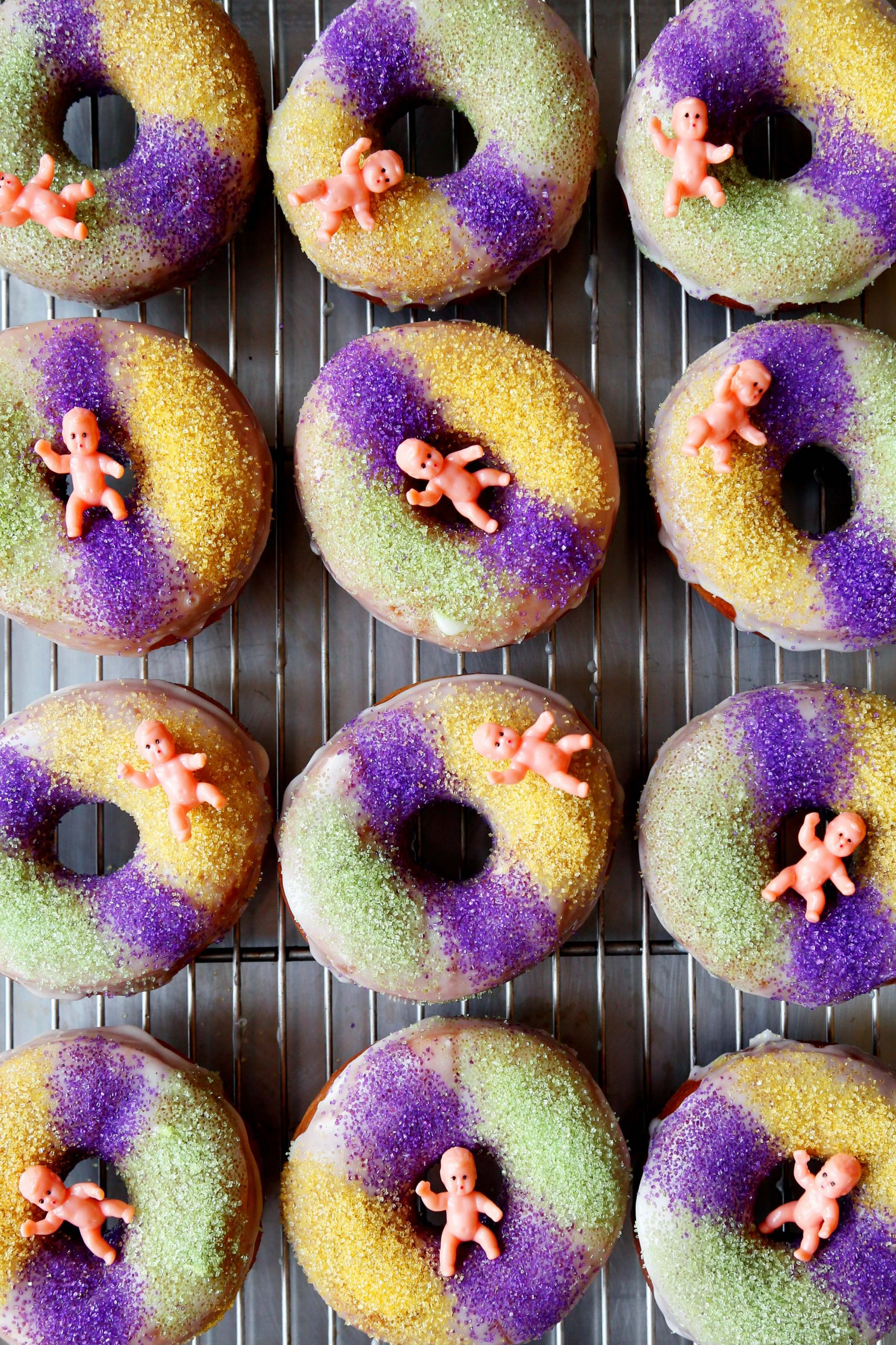 King Cake Doughnuts