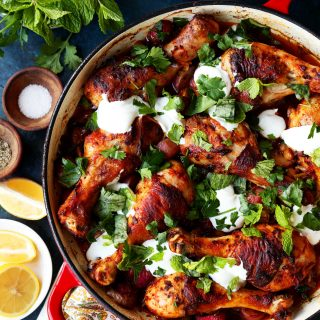 Harissa Chicken with Radishes and Herbs