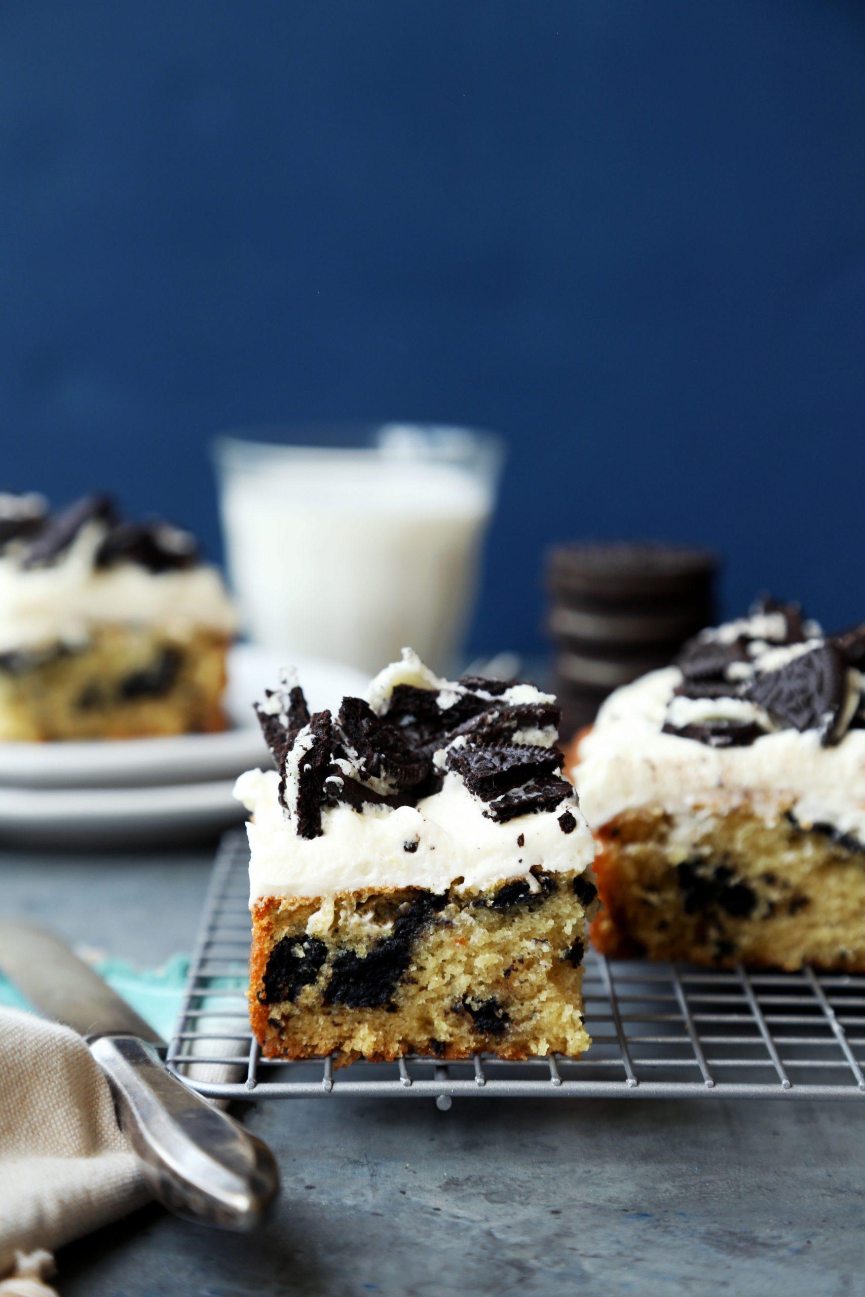 One-Bowl Cookies 'N' Cream Cake