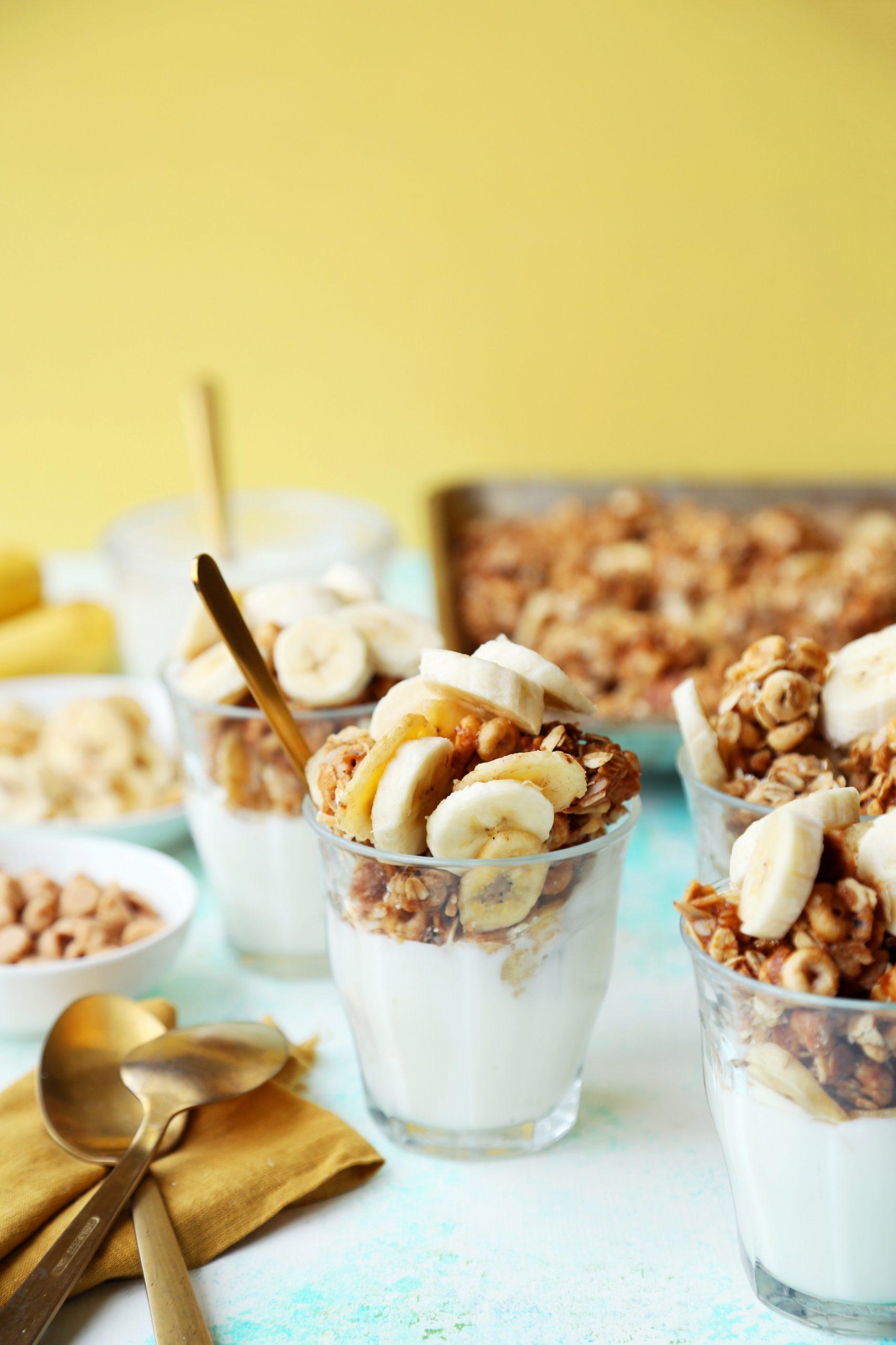 Peanut Butter and Banana Parfaits