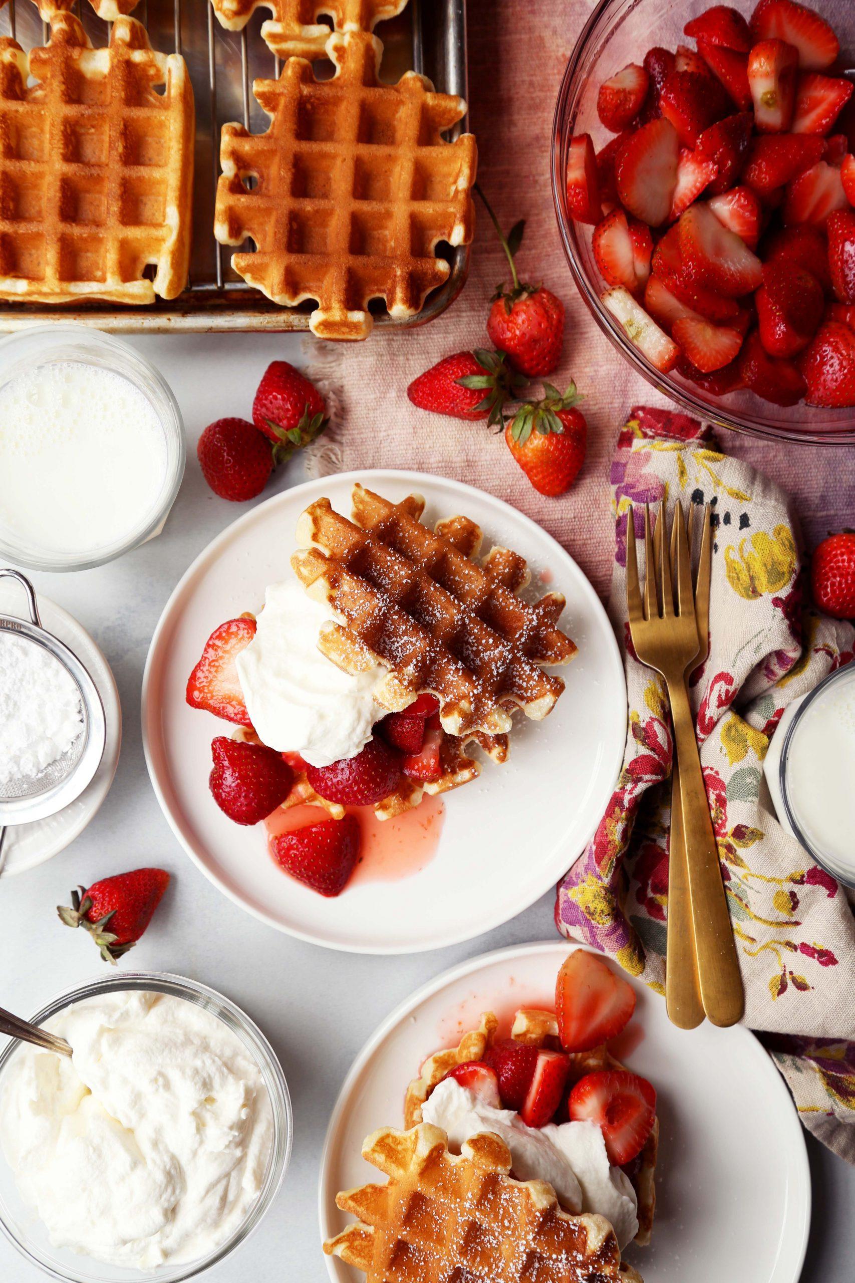 Belgian Waffle Strawberry Shortcake